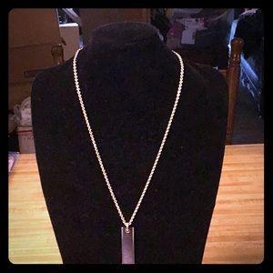 Tiffany & Co. Sterling Silver Ridged Pendant/Chain